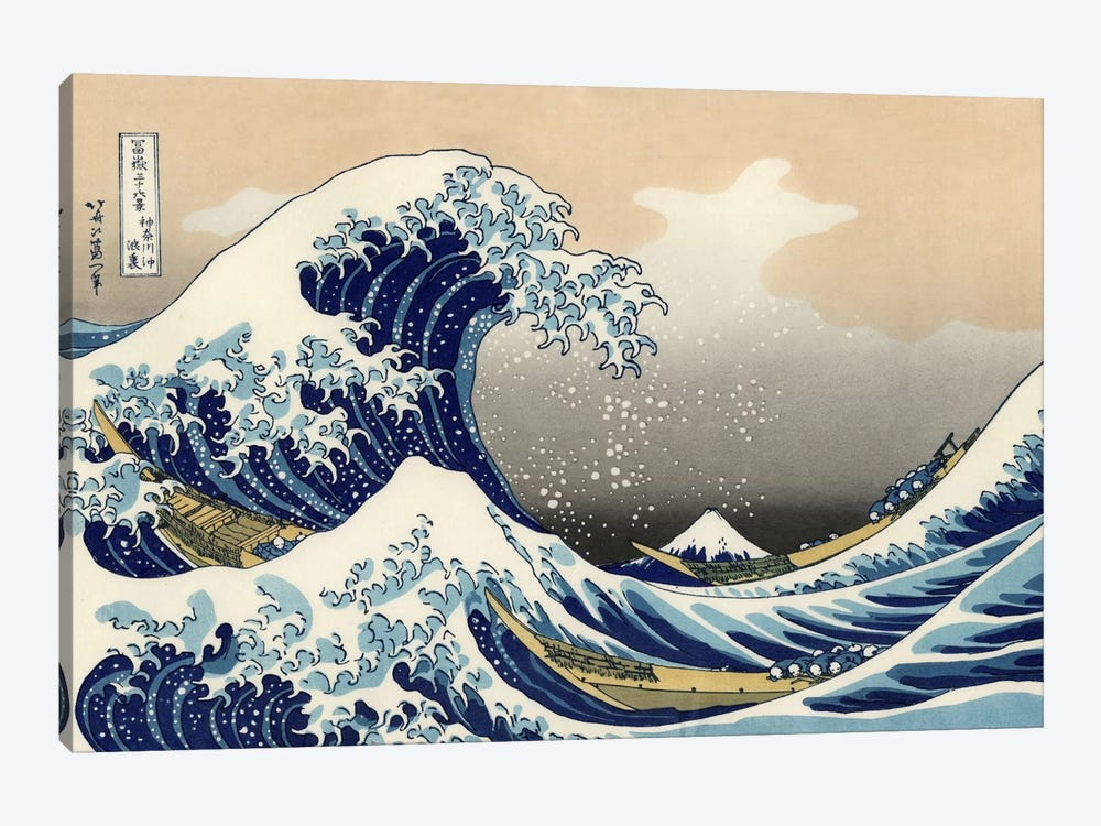 The Great Wave at Kanagawa, 1829 1-piece Canvas Print