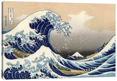 The Great Wave at Kanagawa, 1829 Canvas Art Print