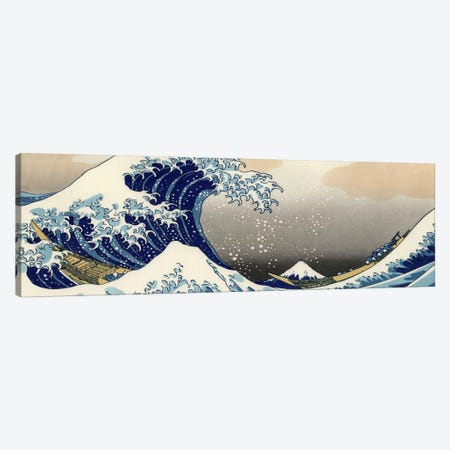 The Great Wave at Kanagawa Canvas Print #1175PAN} by Katsushika Hokusai Canvas Print