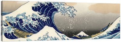 The Great Wave at Kanagawa by Katsushika Hokusai Canvas Print