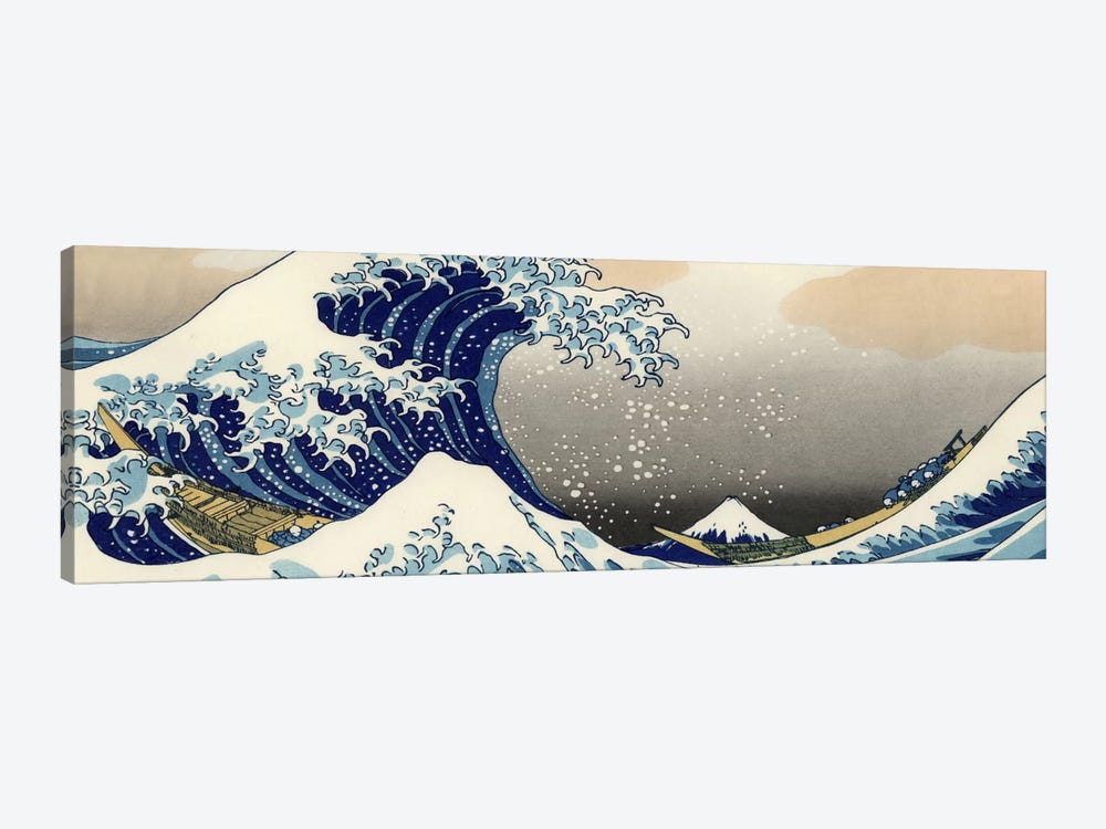 The Great Wave at Kanagawa by Katsushika Hokusai 1-piece Canvas Wall Art
