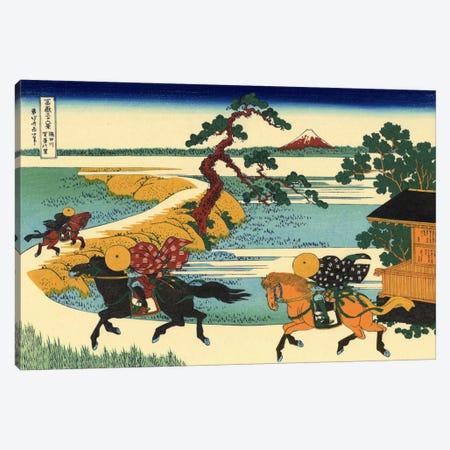 Barrier Town on the Sumida River (Sumidagawa Sekiya no sato) Canvas Print #1179} by Katsushika Hokusai Canvas Wall Art