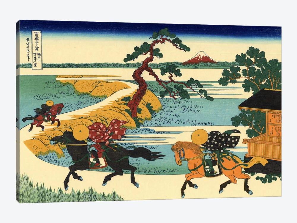 Barrier Town on the Sumida River (Sumidagawa Sekiya no sato) by Katsushika Hokusai 1-piece Canvas Art Print