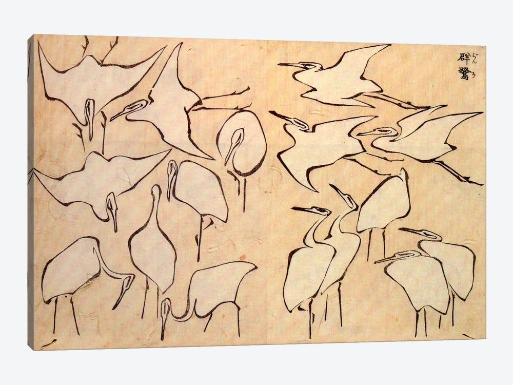 Cranes by Katsushika Hokusai 1-piece Canvas Artwork