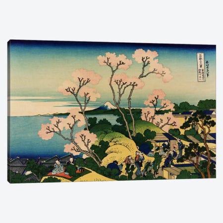 Goten-yama-hill, Shinagawa on the Tokaido (Tokaido Shinagawa Goten'yama no Fuji) Canvas Print #1184} by Katsushika Hokusai Canvas Wall Art