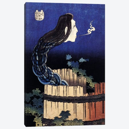 The Ghost Story of Okiku (Sarayashiki), 1830 Canvas Print #1191} by Katsushika Hokusai Canvas Wall Art