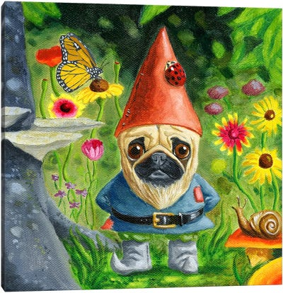 Pug Gnome Canvas Art Print