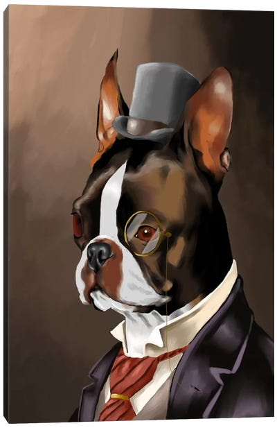 A Non-Smoking American Gentleman Canvas Art Print