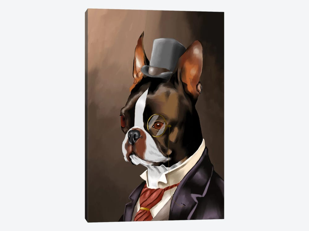 A Non-Smoking American Gentleman by Brian Rubenacker 1-piece Canvas Art Print