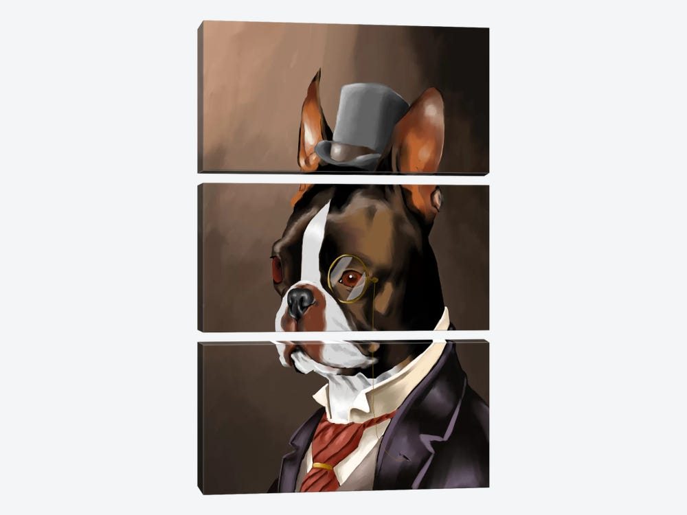 A Non-Smoking American Gentleman by Brian Rubenacker 3-piece Canvas Print