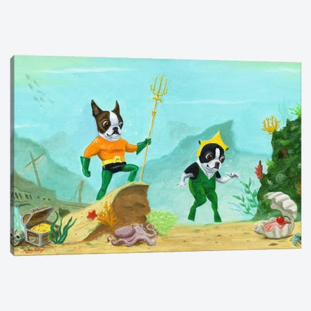 Aqua Terrier Canvas Print #12004} by Brian Rubenacker Canvas Wall Art