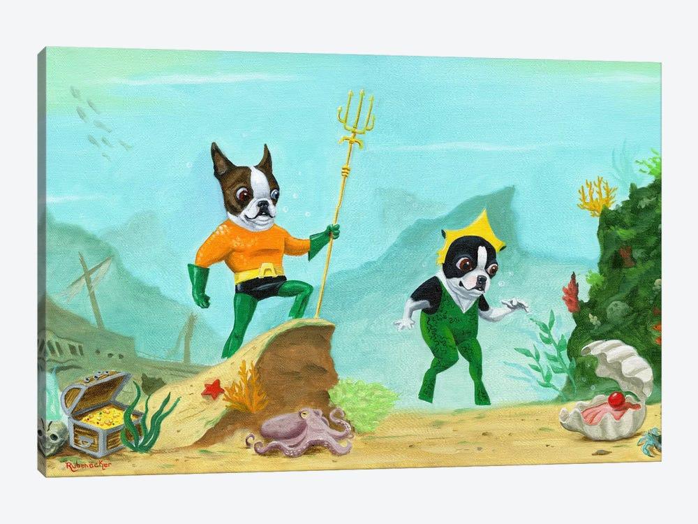 Aqua Terrier by Brian Rubenacker 1-piece Canvas Wall Art