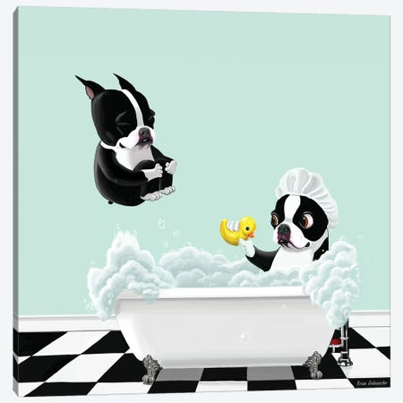 Bath Time Canvas Print #12005} by Brian Rubenacker Canvas Artwork
