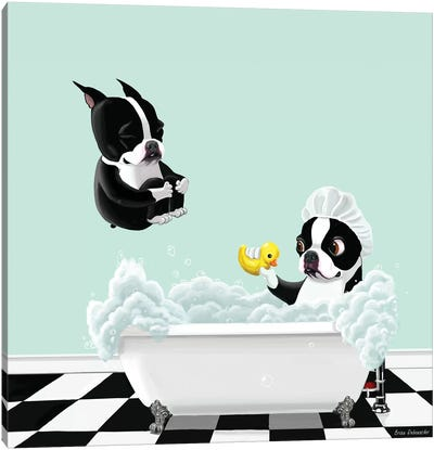 Bath Time by Brian Rubenacker Canvas Artwork