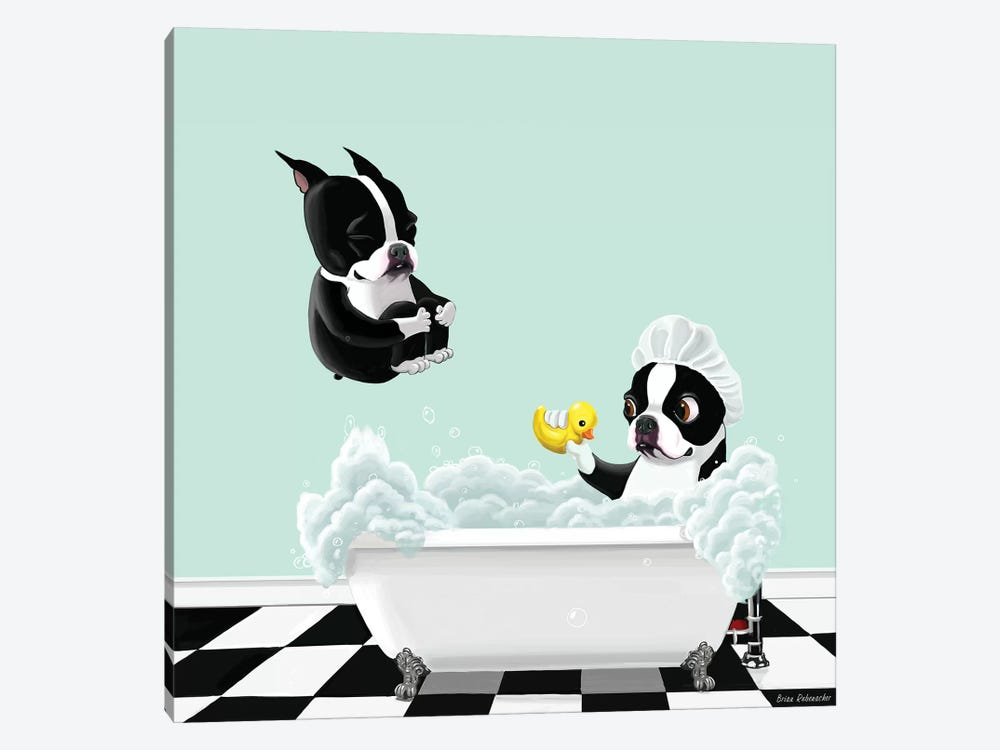 Bath Time by Brian Rubenacker 1-piece Canvas Art Print