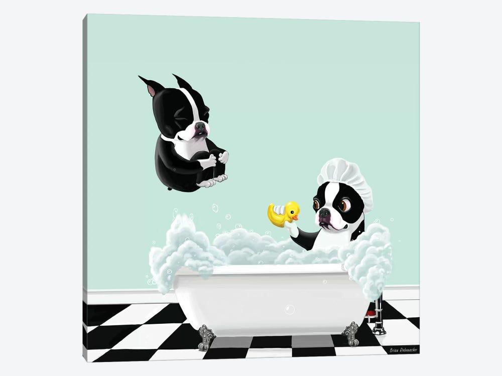Bath Time by Brian Rubenacker 1-piece Canvas Art Print