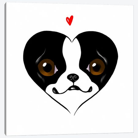 Terrier Heart Card Canvas Print #12014} by Brian Rubenacker Art Print