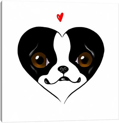 Terrier Heart Card Canvas Print #12014