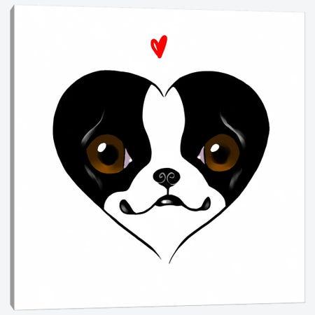 Terrier Heart Card Canvas Print #12014} by Brian Rubenacker Art Print