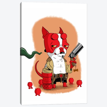 Hell Terrier Canvas Print #12015} by Brian Rubenacker Canvas Art Print