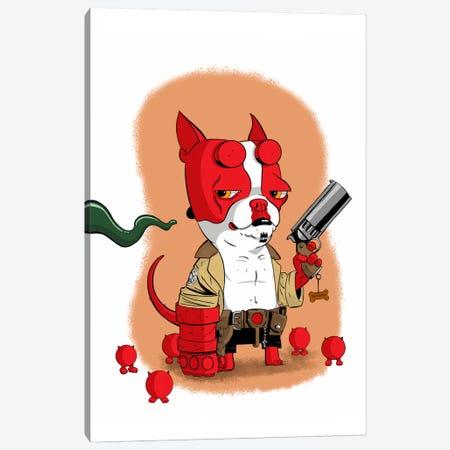 Hell Terrier Canvas Print #12015} by Brian Rubenacker Canvas Art Print