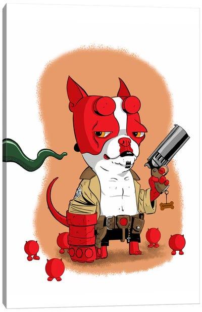 Hell Terrier Canvas Art Print
