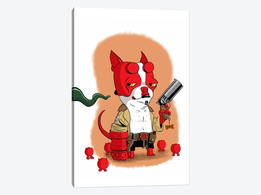 Hell Terrier by Brian Rubenacker 1-piece Canvas Wall Art