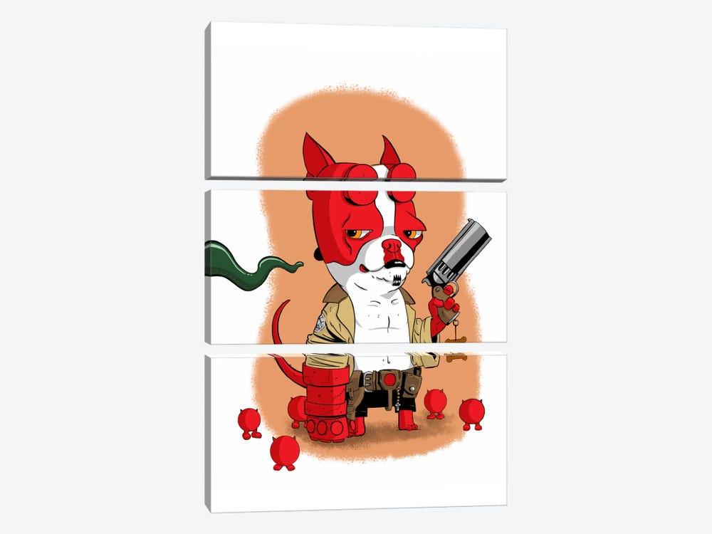 Hell Terrier by Brian Rubenacker 3-piece Canvas Artwork