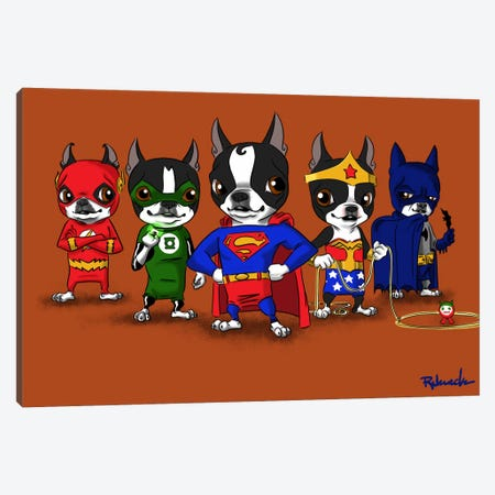 Justice League Canvas Print #12016} by Brian Rubenacker Art Print