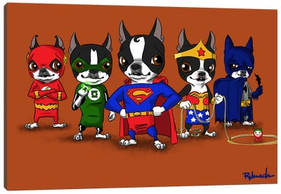 Justice League by Brian Rubenacker Art Print