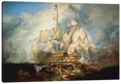 The Battle of Trafalgar 1822-1824 Canvas Art Print