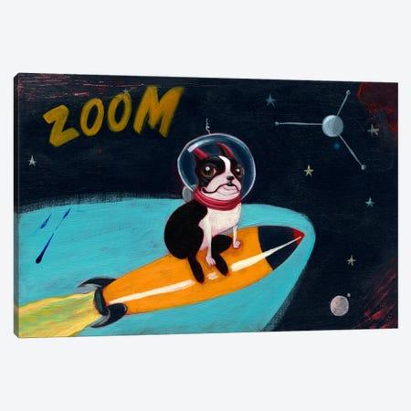 Terrier Rocket Canvas Print #12020} by Brian Rubenacker Art Print