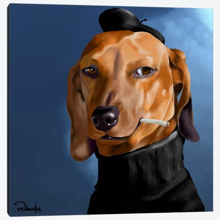 Cool Cat Canvas Print #12030} by Brian Rubenacker Canvas Art