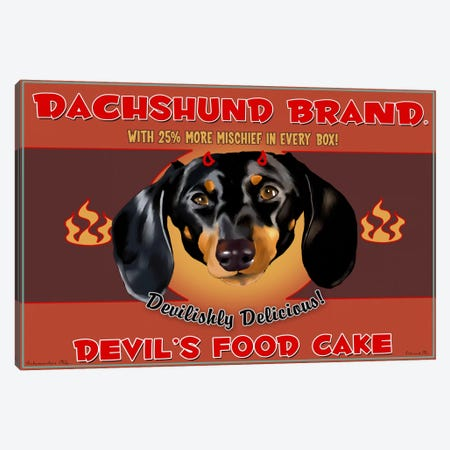 Dachshund Brand Devil's Food Cake Canvas Print #12032} by Brian Rubenacker Canvas Wall Art