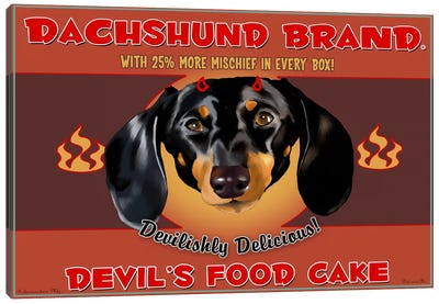 Dachshund Brand Devil's Food Cake Canvas Art Print