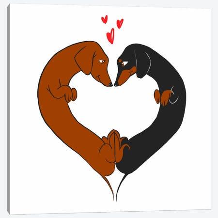 Love Heart Canvas Print #12033} by Brian Rubenacker Canvas Artwork