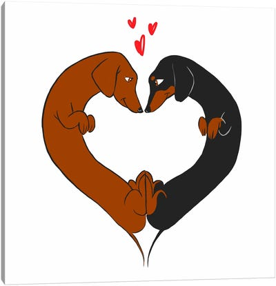Love Heart Canvas Art Print