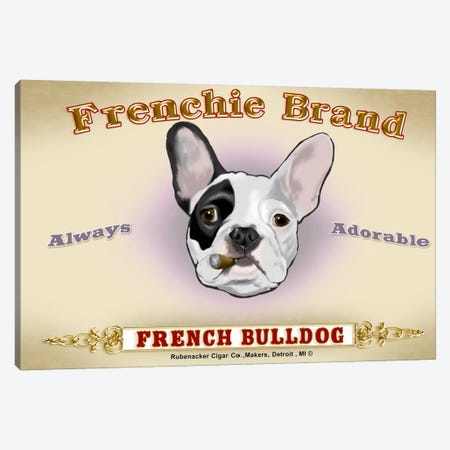 Frenchie Brand Cigar Label Canvas Print #12034} by Brian Rubenacker Canvas Print