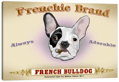 Frenchie Brand Cigar Label Canvas Art Print