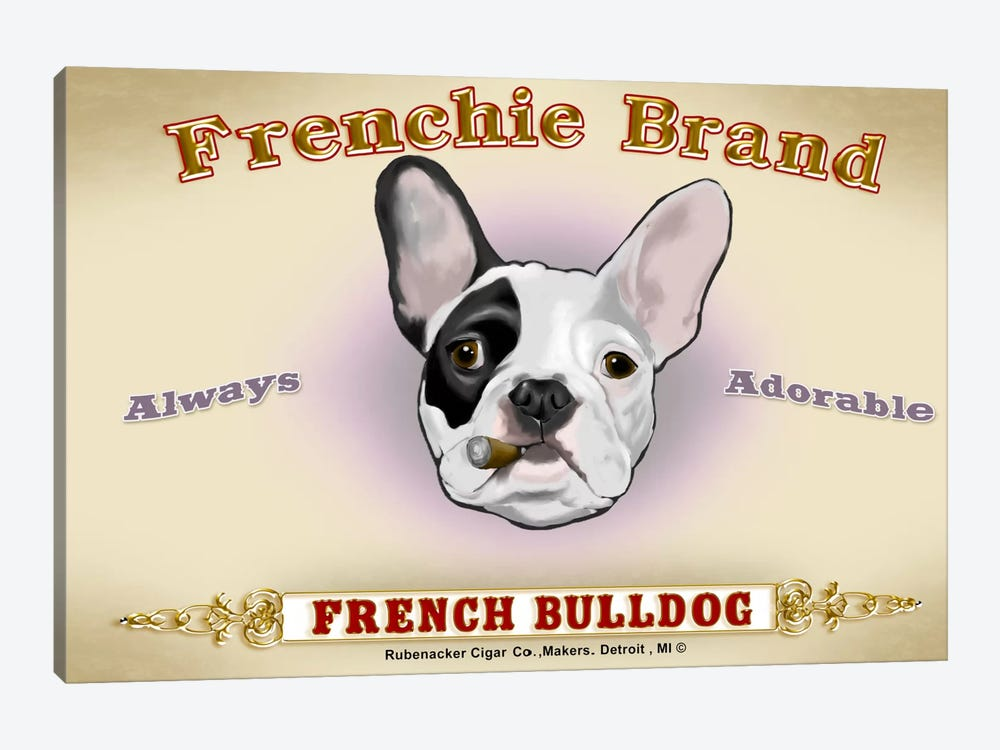 Frenchie Brand Cigar Label by Brian Rubenacker 1-piece Art Print