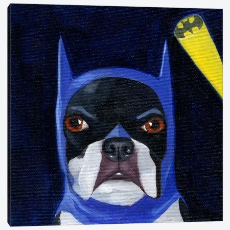 Boston Terriers Wearing Hats XVI (Batman) Canvas Print #12037} by Brian Rubenacker Canvas Print