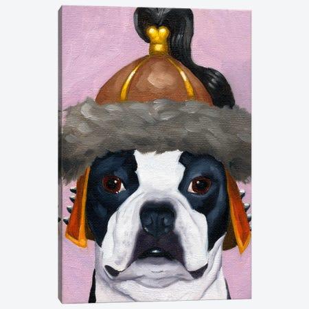 Boston Terriers Wearing Hats (Genghis Khan) Canvas Print #12039} by Brian Rubenacker Canvas Wall Art