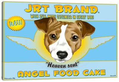 JRT Brand Angel Food Cake Canvas Art Print