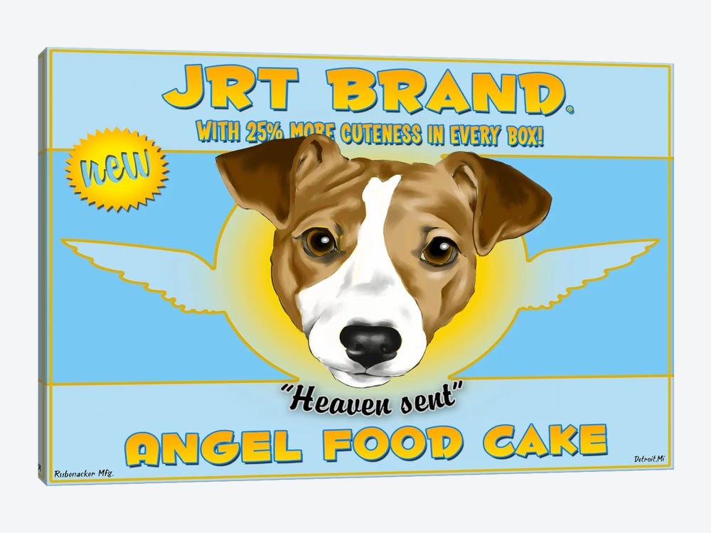 JRT Brand Angel Food Cake by Brian Rubenacker 1-piece Canvas Wall Art