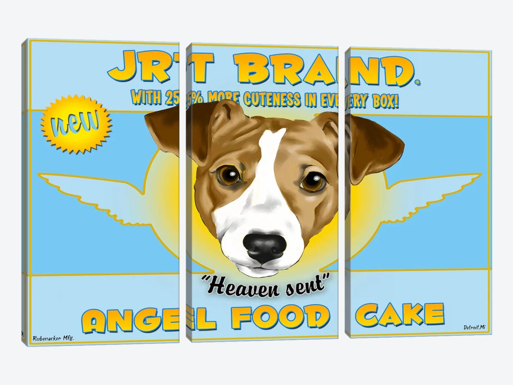JRT Brand Angel Food Cake by Brian Rubenacker 3-piece Canvas Artwork