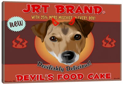 JRT Brand Devil's Food Cake Canvas Art Print