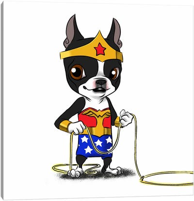 Wonder Terrier Canvas Art Print