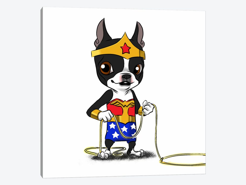Wonder Terrier by Brian Rubenacker 1-piece Canvas Artwork