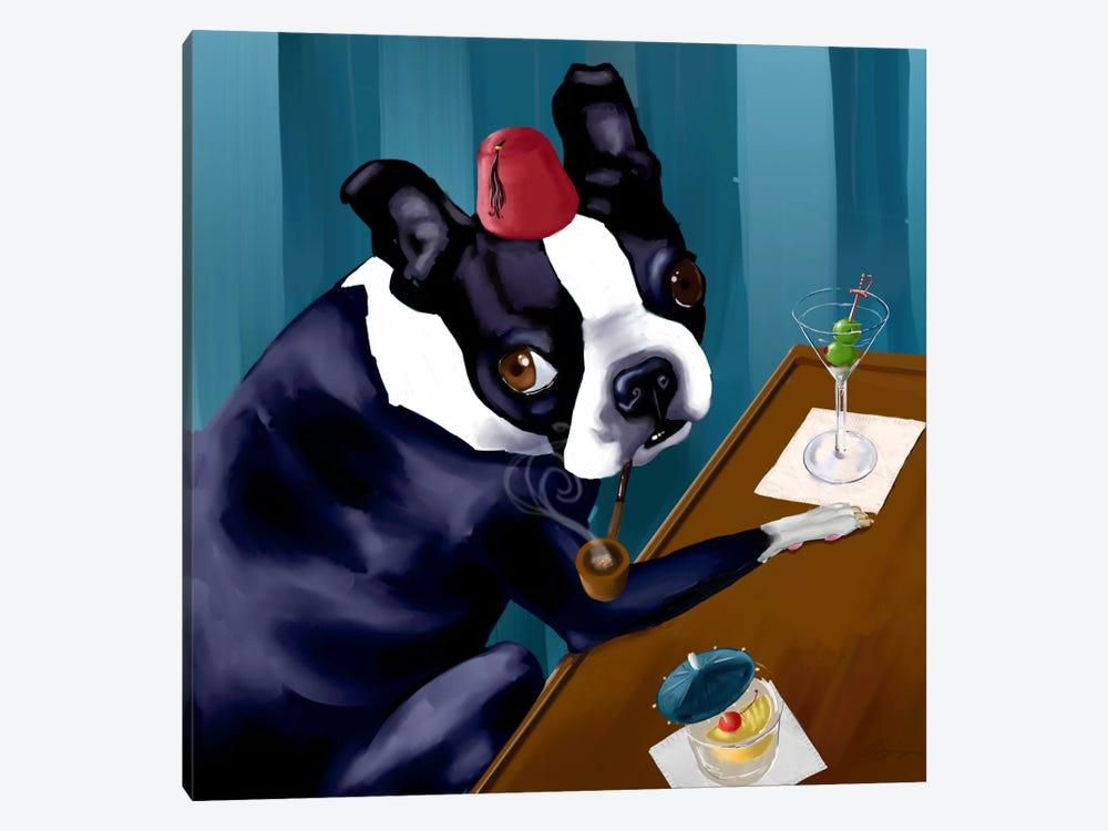 Martini Bar by Brian Rubenacker 1-piece Canvas Print