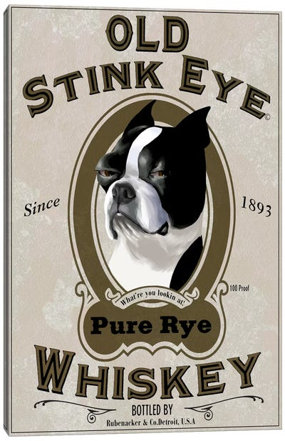 Old Stink Eye Whiskey Canvas Art Print